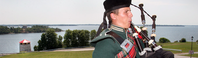 Bag Piper on Fort Henry hill