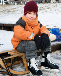 Young Skater at an outdoor rink