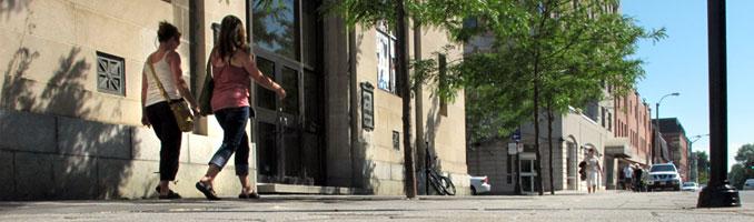 Walkers in Downtown Kingston