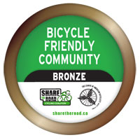 Image result for bicycle friendly community bronze share the road