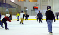 Skaters at INVISTA Arena