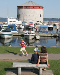 Enjoying the view at Kingston's Confederation Basin Marina