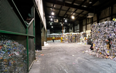 >KARC recycling centre warehouse