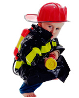 Firefighting Toddler