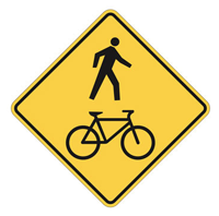 Pedestrian and Bicycle Crossing sign