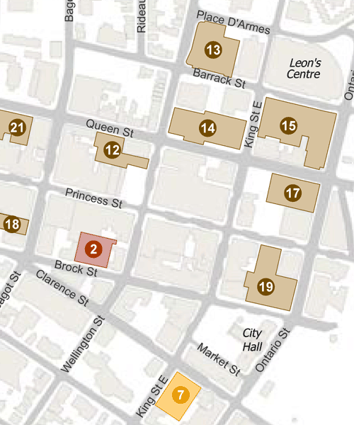 Map of Downtown Parking Lots