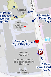 Map of KGH Parking Lots