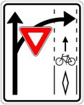 Yield to cyclist signage