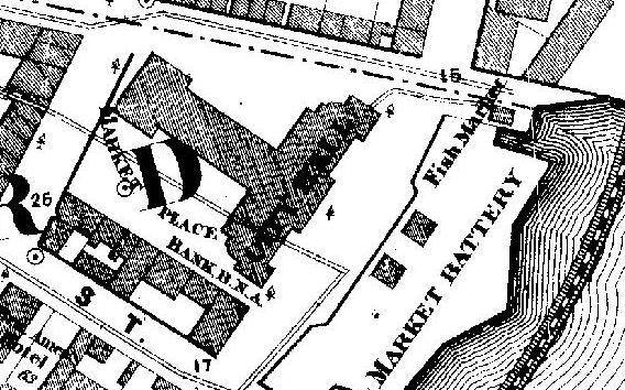 City Hall on an 1865 map