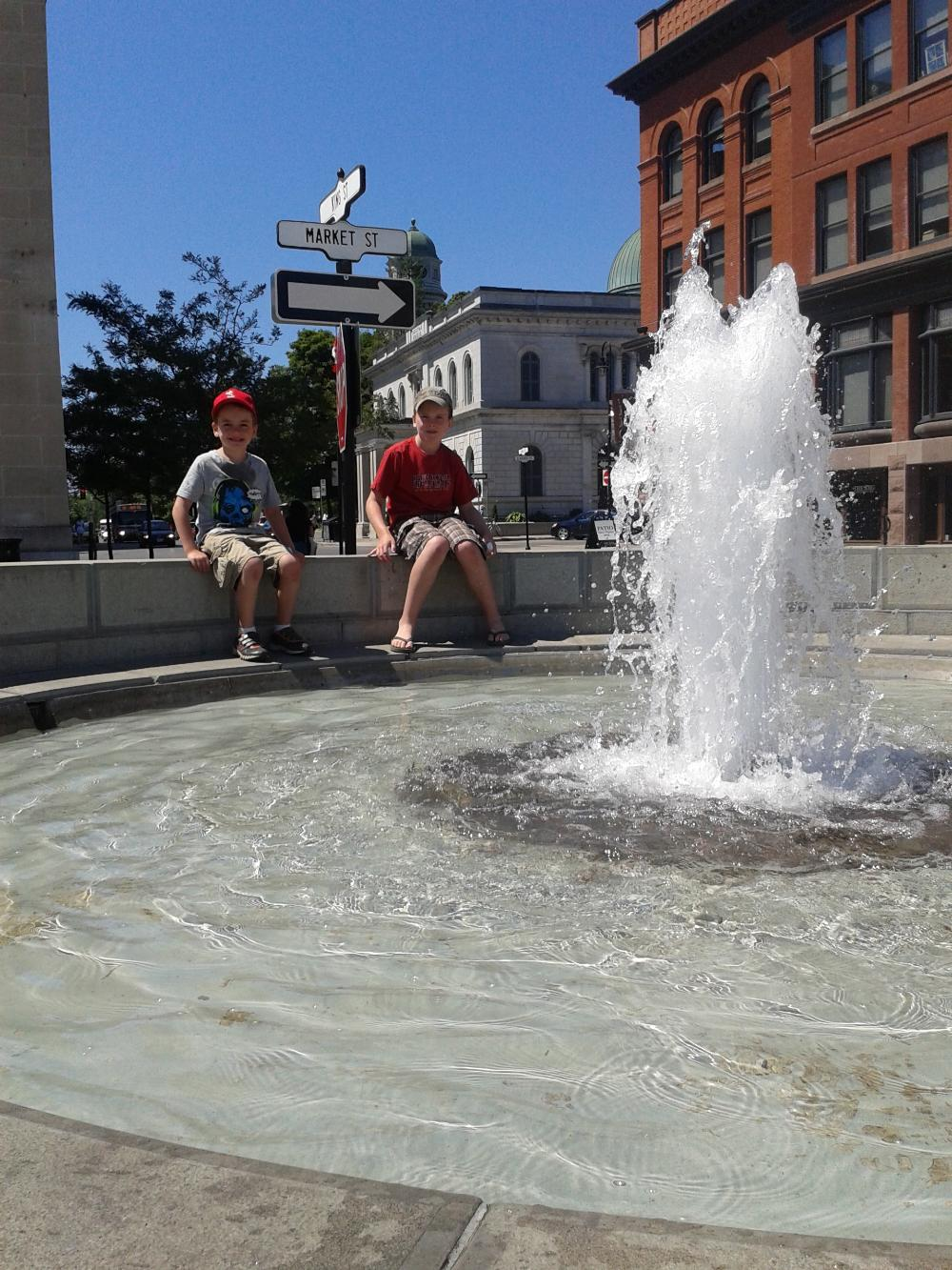 18555627_1492019596382_Enjoying the fountain - Making a wish at the fountain in market square.