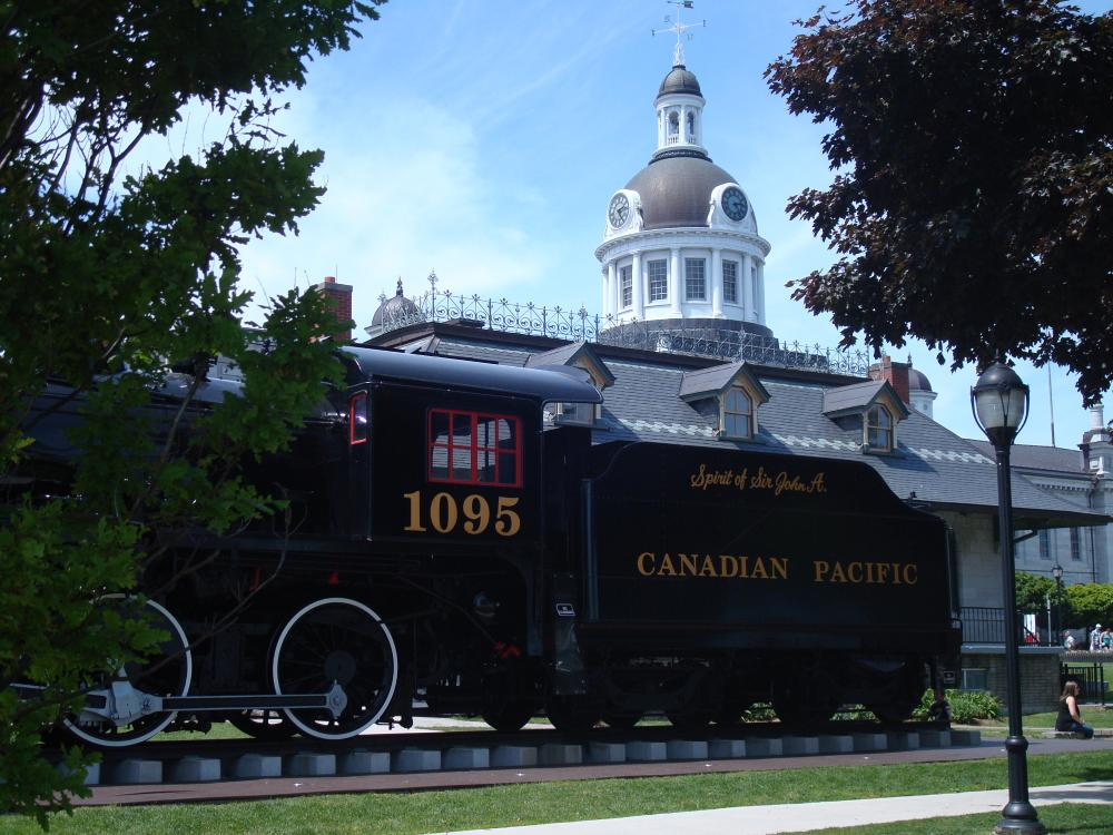 18708591_1492893519551_Sprit of Sit John A. Train - The Spirit of Sir John A. Train beside the Tourism Center, downtown Kingston, Ontario.