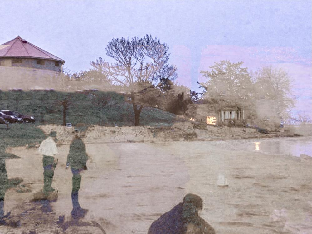 19570137_1497350074102_Ghosts of Kingston - From a 1800's post card of Martello tower on the waterfront at King and Barrie (KGH) and 2017