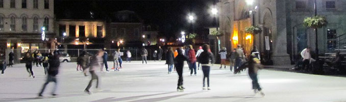 Skaters in Springer Market Square