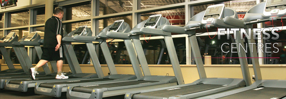 Working out at the INVISTA Fitness Centre